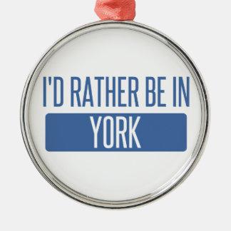 Je serais plutôt à York Ornement Rond Argenté
