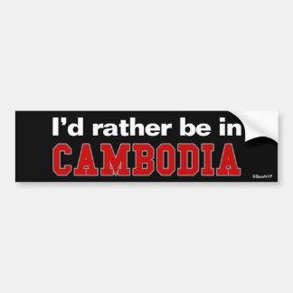 Je serais plutôt au Cambodge Autocollant De Voiture