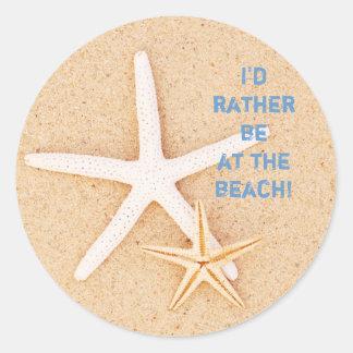 Je serais plutôt… Autocollants de plage