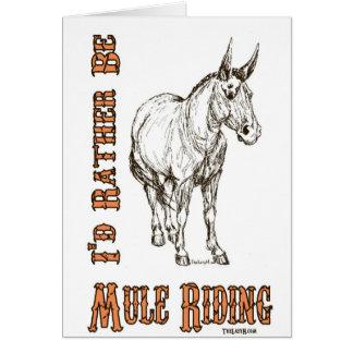 Je serais plutôt conception d'équitation de mule cartes