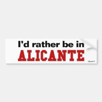 Je serais plutôt dans Alicante Autocollant De Voiture
