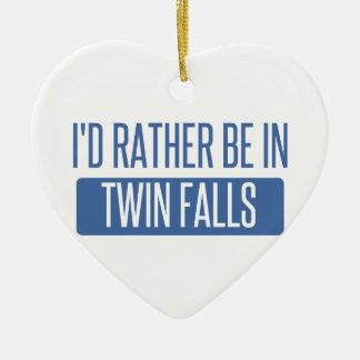 Je serais plutôt dans des automnes jumeaux ornement cœur en céramique