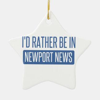 Je serais plutôt dans des nouvelles de Newport Ornement Étoile En Céramique