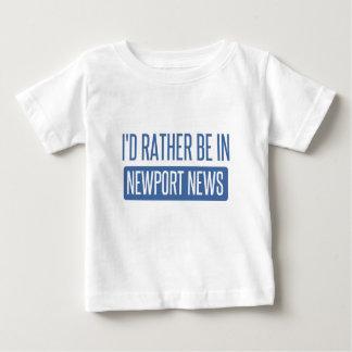 Je serais plutôt dans des nouvelles de Newport T-shirt Pour Bébé