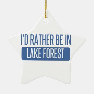 Je serais plutôt dans la forêt de lac ornement étoile en céramique
