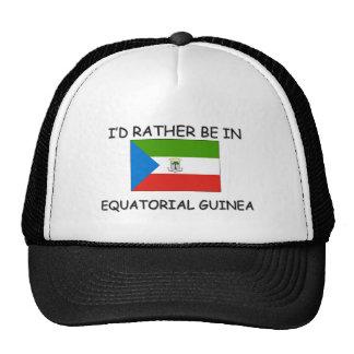 Je serais plutôt dans la Guinée équatoriale Casquettes