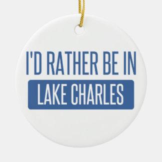 Je serais plutôt dans Lake Charles Ornement Rond En Céramique