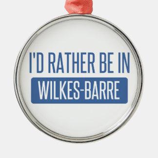 Je serais plutôt dans le Wilkes-Barre Ornement Rond Argenté