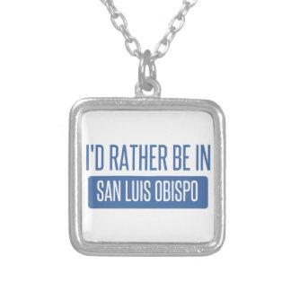 Je serais plutôt dans San Luis Obispo Pendentif Carré
