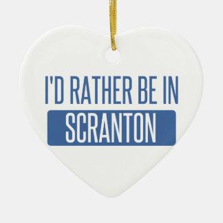 Je serais plutôt dans Scranton Ornement Cœur En Céramique
