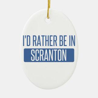 Je serais plutôt dans Scranton Ornement Ovale En Céramique