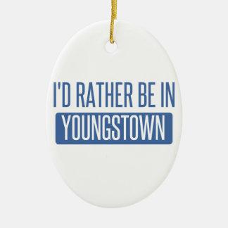 Je serais plutôt dans Youngstown Ornement Ovale En Céramique