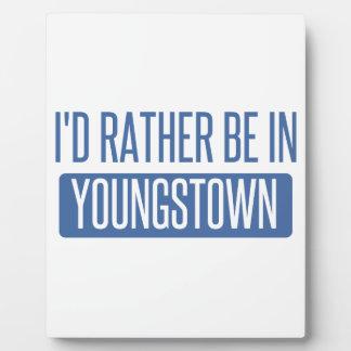 Je serais plutôt dans Youngstown Plaque Photo