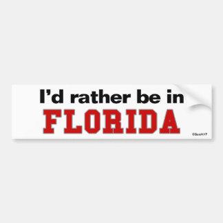 Je serais plutôt en Floride Autocollant Pour Voiture