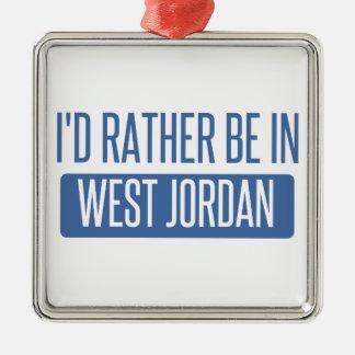Je serais plutôt en Jordanie occidentale Ornement Carré Argenté