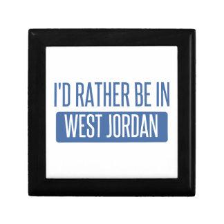 Je serais plutôt en Jordanie occidentale Petite Boîte À Bijoux Carrée