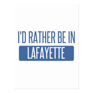 Je serais plutôt en LA de Lafayette Carte Postale