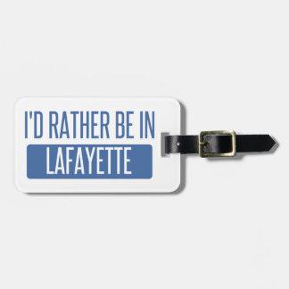Je serais plutôt en LA de Lafayette Étiquette Pour Bagages