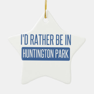 Je serais plutôt en parc de Huntington Ornement Étoile En Céramique