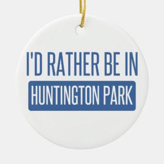 Je serais plutôt en parc de Huntington Ornement Rond En Céramique