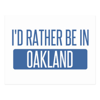 Je serais plutôt en parc d'Oakland Cartes Postales