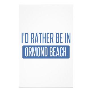 Je serais plutôt en plage d'Ormond Motifs Pour Papier À Lettre
