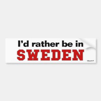 Je serais plutôt en Suède Autocollant De Voiture