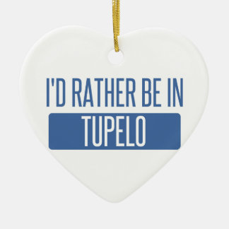 Je serais plutôt en Tupelo Ornement Cœur En Céramique