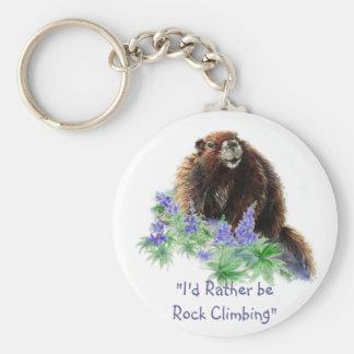"""""""Je serais plutôt escalade de roche"""" avec les marm Porte-clé Rond"""