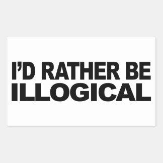 Je serais plutôt illogique sticker rectangulaire