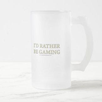 Je serais plutôt jeu frosted glass beer mug