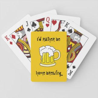 Je serais plutôt le brassage à la maison cartes à jouer