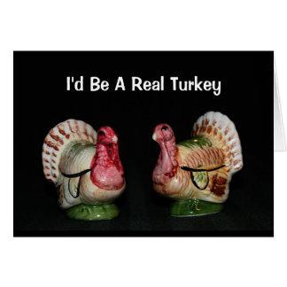 Je serais une vraie carte de thanksgiving de la