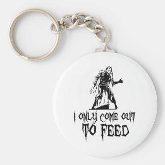 Je sors seulement pour alimenter le rétro zombi porte-clé rond