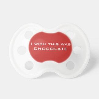 Je souhaite que c'ait été simulacre de chocolat, tétine