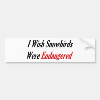 Je souhaite que des Snowbirds aient été mis en dan Autocollant Pour Voiture