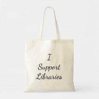 Je soutiens des bibliothèques ! Sac fourre-tout