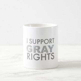 Je soutiens des droites grises mug