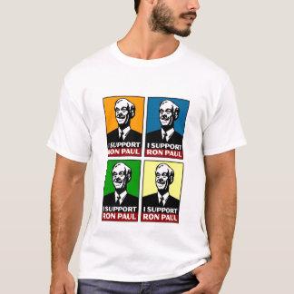 Je soutiens la chemise de quadruple de Ron Paul T-shirt