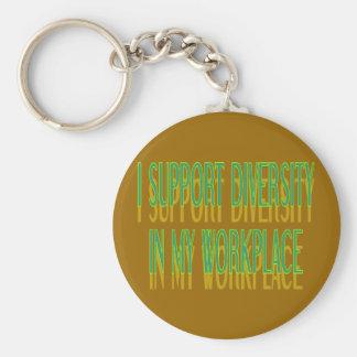 Je soutiens la diversité dans mon porte - clé porte-clé rond