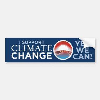 Je soutiens le climat Changement-Obama-comme l'adh Autocollant Pour Voiture