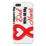 Je soutiens mon papa de tout mon coeur étui iPhone 5