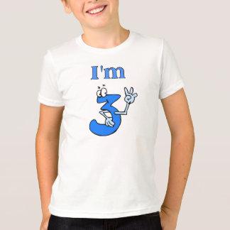 Je suis 3 vieux T-shirts d'anniversaire de doigts