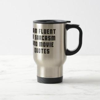 Je suis à l'aise dans des citations de sarcasme et mug de voyage