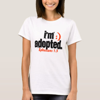 Je suis adopté 1:5 d'Ephesians - customisé T-shirt