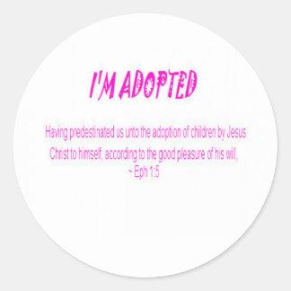 Je suis adopté sticker rond