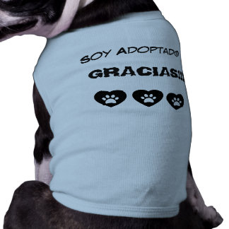 Je Suis adopté T-shirt Pour Chien