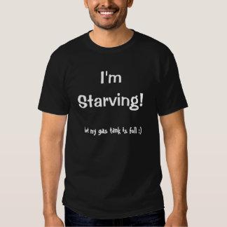 Je suis affamé ! mais mon réservoir de gaz est t-shirts