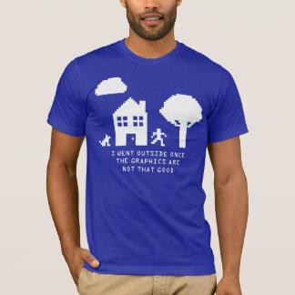JE SUIS ALLÉ EXTÉRIEUR T-shirt d'UNE FOIS 8 BITS