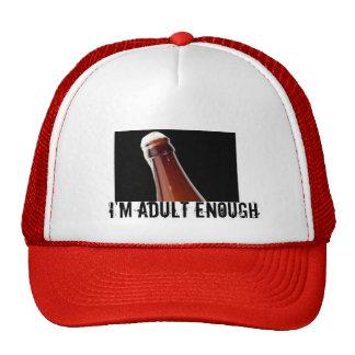 Je suis assez adulte casquette de camionneur